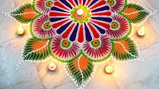Download Rangoli for diwali | Easy unique rangoli using simple tools | diwali special | Art with Creativity Video