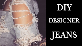 Download DIY GIGI HADID PEARL DESTROYED JEANS Video