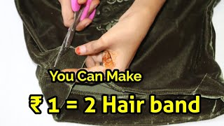 Download Making 2 headbands for 1 Rupees cost | Indian arts and crafts Video