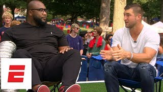 Download Tim Tebow confused by Mark Wahlberg's ridiculous morning routine   SEC Nation: Friend Zone   ESPN Video