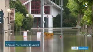 Download Inondations dans les Landes : près de 300 personnes évacuées a Peyrehorade Video