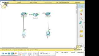 Download Cisco packet tracer #3 - 2 PC with 1 Router Video