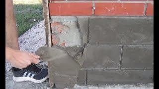 Download Дешево и сердито. Отделка цоколя цементным раствором. Video