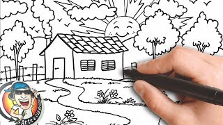 Download COMO DESENHAR UMA CASA NO CAMPO MUITO FÁCIL - HOW TO DRAW A HOUSE IN THE VERY EASY FIELD Video