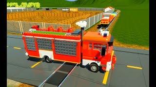 Download Lego Cars & Semi Truck vs Lego Train - Brick Rigs - Realistic Crashes Video