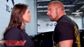 Download Raw - After arguing with Stephanie McMahon, Triple H leaves the arena and vows to face Curtis Axel Video