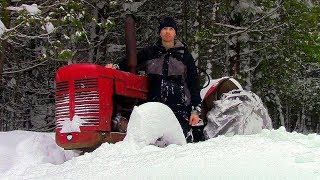 Download Snow Too Deep for Snowmobile! & DIY Rocket Stove- Log Cabin Update- Ep 9.11 Video