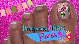 Rosa Y Lace Diseno De Unas De Los Pies Roses Lace Toe Nail Art