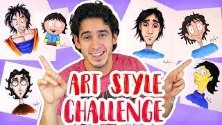 Download Me Dibujo en 6 Estilos Diferentes | ART STYLE CHALLENGE | HaroldArtist Video