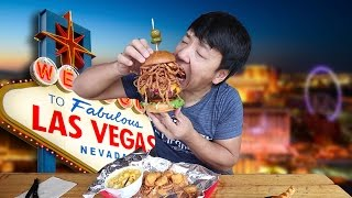 Download ALL YOU CAN EAT BBQ in Las Vegas! BIGGEST Burger EVER! Video