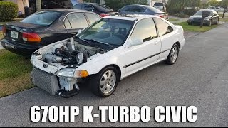 Download 670HP K20 Turbo Civic Kills Ferrari 458, GTR, Z06 & MORE!! Video