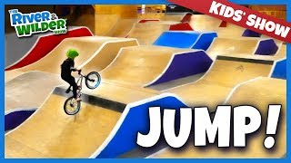 Download Boys get BMX bike jump lessons | River and Wilder Show Video