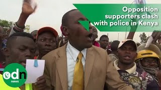 Download Opposition supporters clash with police in Kenya Video