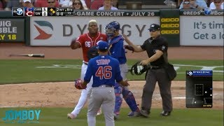 Download Puig goes after Strop after getting hit by a pitch, a breakdown Video
