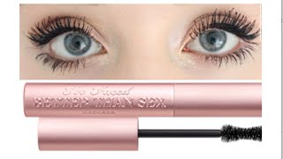 Download Too Faced Better Than Sex Mascara | Demo & Review Video