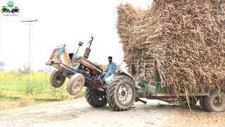 Download Tractor Wheeling | Crazy Driver Ford 4600 Fully loaded Trolley | Punjab Tractors Video