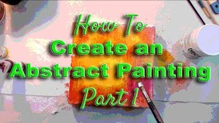 Download How to Create an Abstract Painting - Part 1 Background Video