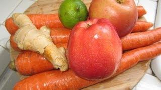 Download Jugo de Zanahorias, manzanas, jengibre y Limon.Bueno para la salud Video