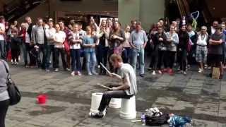 Download HQ Street Drummer Video