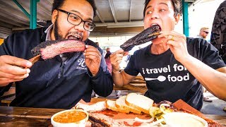 Download GIANT BEEF RIBS and Brisket - AMERICAN FOOD BBQ at Little Miss BBQ in Phoenix, AZ! Video