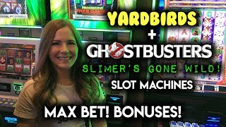 Download Max Bet BONUS! on Ghostbusters Slimers GONE WILD! and Yarbirds Slot Machines! Video