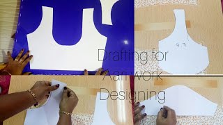 Download How to draft blouse pattern for aari work embroidery? Video