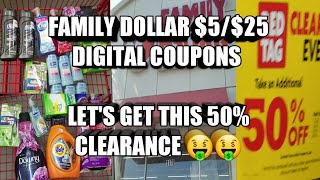 Download FAMILY DOLLAR $5/$25 ALL DIGITAL SCENARIOS. TAKING ADVANTAGE OF THE 50% CLEARANCE Video