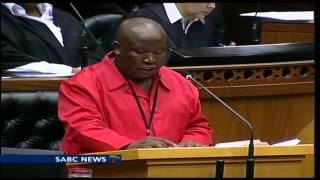 Download Julius Malema reacts to SONA 2014 in parliament Video