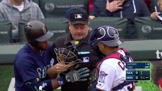Download MLB Playback - Batter, Catcher, Umpire get hit compilation Video