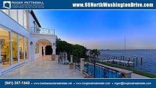Download Steps to St. Armands Circle! Luxury waterfront home for sale on Lido Key, Florida Video