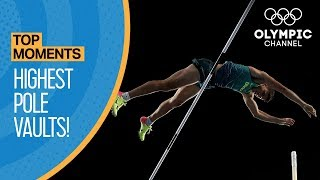 Download Top Highest Olympic Pole Vaults of All Time   Top Moments Video