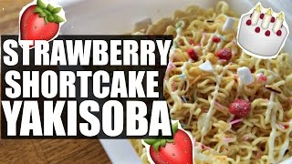 Download STRAWBERRY Shortcake Instant YAKISOBA Taste Test | Ramen, Ramen, Ramen Video