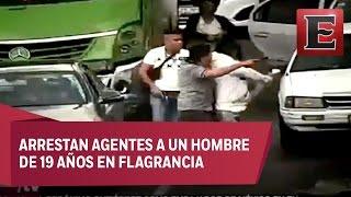 Download Policías encubiertos capturan a asaltantes de automovilistas Video