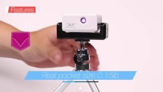 Download Pocketsize Wireless Pico Projector LG Uplus rayBeam DLP Beam Projector RTSB7000L Video