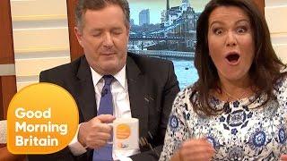 Download Piers Morgan Spills Hot Tea All Over Himself! | Good Morning Britain Video