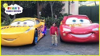 Download DisneyLand Amusement Ride and Giant Lightning McQueen! Video