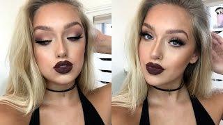 Download Instagram ″Baddie″ Makeup Tutorial- Matte Eyes, Dark Lips + OUTFIT! Video