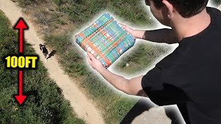 Download CAN 10,000 RUBBER BANDS PROTECT AN XBOX FROM 100FT DROP?! | FaZe Rug Video