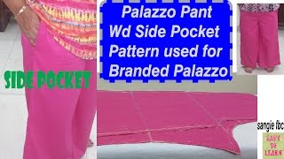 Download Palazzo Pants With Side Pocket-Cutting&Stitching- Easy tutorial in hindi Video