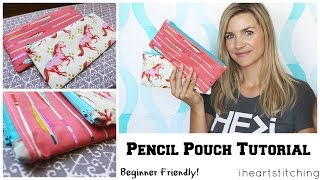 Download Easy Pencil Pouch Tutorial - Back to School! Video