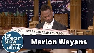 Download Jimmy Gives Marlon Wayans His Own Tonight Show Hairstyles Sign Video