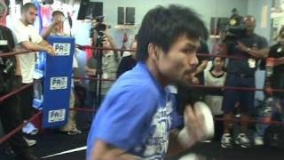 Download Manny Pacquiao's Lighting Fast Shadow Boxing Video