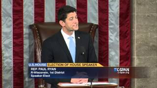 Download Newly-elected Speaker Paul Ryan (R-WI) addresses House of Representative (C-SPAN) Video