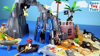 Download Playmobil Pirate Treasure Island Playset Build and Play with Sea Animals Toys For Kids Video