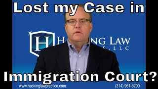 Download What happens if I lose my case at immigration court? Video