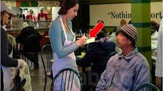 Download Diese Kellnerin bediente den Obdachlosen.Doch als sie herausfand wer er war brach sie in Tränen aus. Video