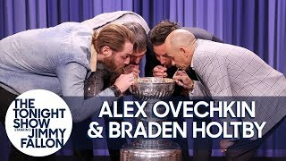 Download Alex Ovechkin, Braden Holtby & Triple Crown Jockey Mike Smith Drink from Stanley Cup Video