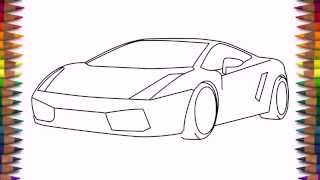 Download How to draw a car Lamborghini Gallardo easy step by step for kids and beginners Video