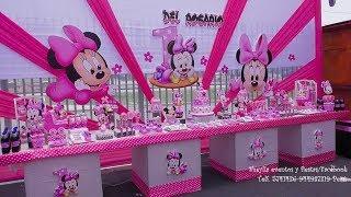 Download toldo de minnie bebe, castillos, decoración de fiesta infantil, mesa temática de dulce, cumpleaños Video