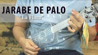 Download Jarabe de Palo - La Flaca UKULELE Tutorial (HD) Video